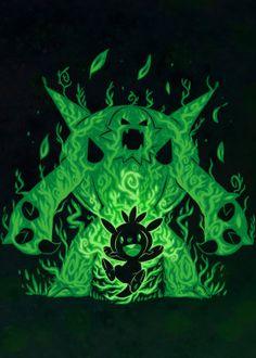 ": Visit Artist Store Description: Pokémon Generation 5 Grass Starters The Grass Knight Within artwork by artist ""Sar Kalos Pokemon, Pokemon Gif, Pokemon Tattoo, Pokemon Eeveelutions, Pokemon Fan Art, Cool Pokemon, Pokemon Cards, Banette Pokemon, Bulbasaur"