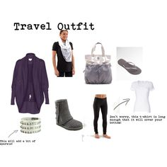Travel Outfit, created by sugarplumsister