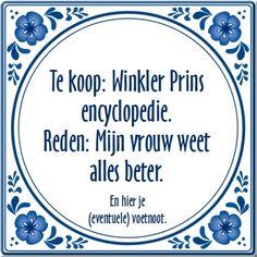 Te koop: Winkler Prins encyclopedie....