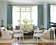 Best Living Room Furniture Arrangement Ideas With Piano Layout Ideas Blue And Cream Living Room, My Living Room, Home And Living, Living Room Decor, Living Spaces, Living Room Arrangements, Living Room Furniture Arrangement, Furniture Layout, Furniture Placement