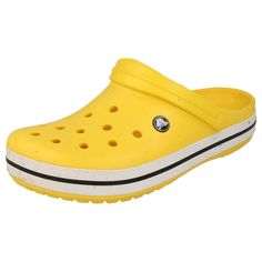 ADULTS CROCS CLOGS MULES/SANDALS IN YELLOW - STYLE - CROCBAND Crocs Crocband, Yellow Style, Nursing Shoes, Mule Sandals, Yellow Fashion, Dream Shoes, Vsco, Kicks, Slippers