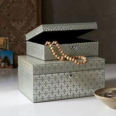 Metallic Printed Jewelry Box - Flax #westelm