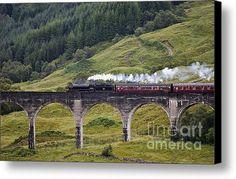 Glenfinnan Viaduct - D002340 Canvas Print / Canvas Art By Daniel Dempster - Harry Potter, Hogwarts Express