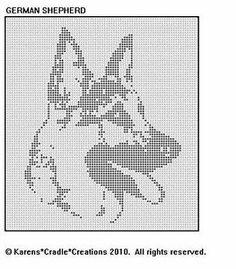 German Shepherd Filet Crochet Pattern   eBay