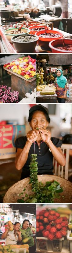 Home made paste to prepare delicious dishes, flower offerings, fresh fruit.you can find all you need at the local market Travel Around The World, Around The Worlds, Traditional Market, Gili Island, Borobudur, Need A Vacation, Best Resorts, Indonesian Food, Yogyakarta