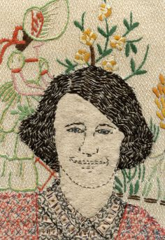 Sue Stone's Textile Art. Modern Embroidery, Embroidery Art, Stitching On Paper, Hand Stitching, Portrait Embroidery, Collage Portrait, Painting Portraits, Collages, Stitch Pictures