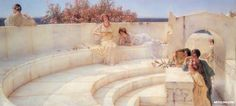 Under The Roof Of Blue Ionian Weather Detail by Sir Lawrence Alma-Tadema
