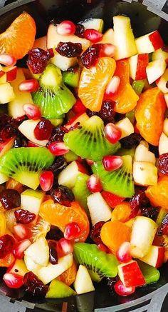 Healthy Fruits, Fruits And Veggies, Healthy Snacks, Healthy Recipes, Pumpkin Recipes, Fall Recipes, Holiday Recipes, Winter Fruit Salad, Autumn Fruit Salad Recipe