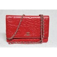 Chanel 2011A Red Leather Wallet On Chain Camellia Bag (I wish)