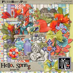 Hello, Spring Page Kit :: Coordinates with the entire Hello Spring Digital Scrapbooking Collection by Kathryn Estry @ PickleberryPop