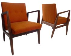 2 Vintage Mid Century Modern Jens Risom Armchairs by ModTiques, $650.00