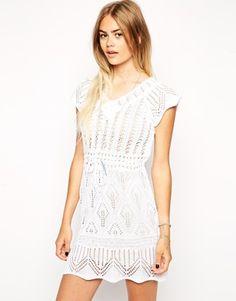 Enlarge ASOS Crochet Dress with Waist Tie