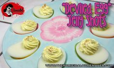 The Homicidal Homemaker shows you how to create these unique Deviled Egg Jelly Shots that look exactly like the real deal! Perfect for April Fool's Day, Easter, or any other party.
