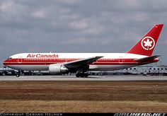 Air Canada Boeing 767-233/ER Boeing Aircraft, Passenger Aircraft, Good Ol Times, International Airlines, Civil Aviation, World Pictures, Bus, Aircraft Pictures, Air Travel