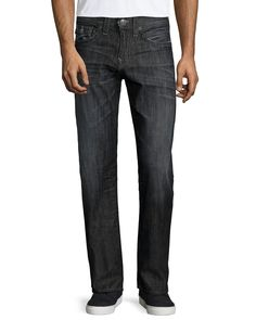Geno Relaxed-Leg Faded Denim Jeans, Black/Gray, Women's, Size: 30, Black/Grey - True Religion