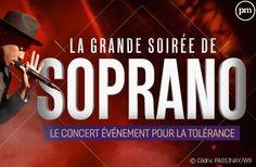 La grande soirée de Soprano - Le concert événement pour la tolérance - Subtitling French into Dutch - January 2020 Star Academy, Soprano, Le Concert, Pop Rock, Company Logo, Films, Rapper, Singer, Pop Music