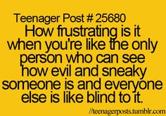 tried to tell someone this but they think i'm the crazy one..they will find out sooner or later