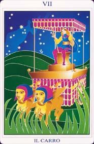 The Chariot - Phoenix Tarot - Paola Angelotti - self published 2003