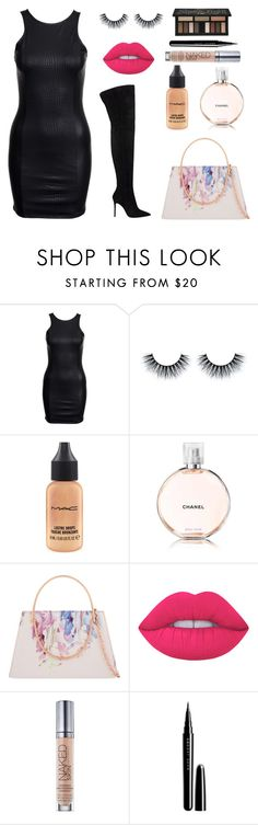 """Late night out w. the girls"" by itsamandarose on Polyvore featuring MAC Cosmetics, Ted Baker, Lime Crime, Urban Decay, Marc Jacobs and Kat Von D"