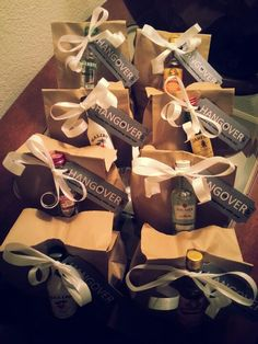 Hangover bags I made my friends for helping me celebrate my 21st birthday!