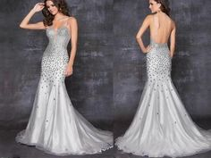 Sexy Evening Dresses   -sexy-crystal-mermaid-evening-dresses-party-formal-prom-wedding-gowns ...