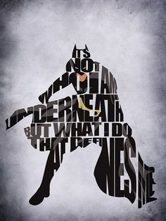 Batman Digital Art by Ayse T Werner - Batman Fine Art Prints and Posters for Sale Typography Prints, Batman Art, Poster Prints, Dark Knight, Art, Im Batman, Comics, Prints, Typography Poster