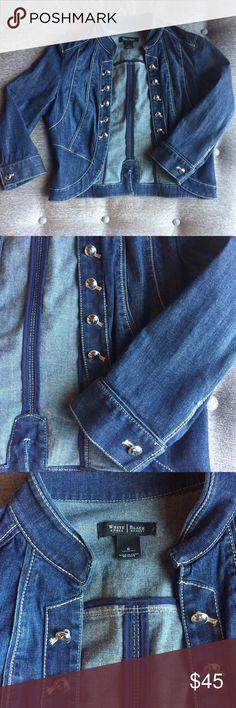 ⭐️ Gorgeous NWOT Denim WHBM Jacket ⭐️ Beautiful Denim Jacket by WHBM * NWOT * White House Black Market Jackets & Coats Jean Jackets