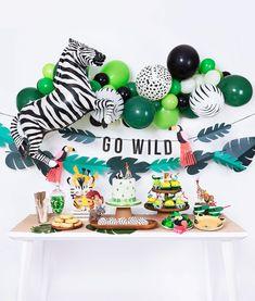 Get wild boxes в 2019 г. jungle/safari party animal themed b Animal Themed Birthday Party, Jungle Theme Birthday, Wild One Birthday Party, 1st Boy Birthday, Boy Birthday Parties, Birthday Party Decorations, Kids Party Themes, Birthday Celebration, Party Animal Theme