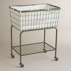 Rolling Laundry Cart   - oh I want one!!!