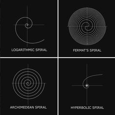 """Types of Spirals.Logarithmic Spiral - self-similar spiral curve which often appears in Nature.Spira Mirabilis, Latin for """"miraculous spiral"""", is another name for the Logarithmic Spiral. The size of the spiral increases but its shape is unaltered with each successive curve, a property known as Self-Similarity. Possibly as a result of this unique property, the Spira Mirabilis has evolved in Nature, appearing in certain growing forms such as nautilus shells and sunflower heads.Fer..."""