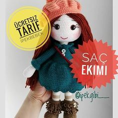 Hello dear amigurumi lovers again, this is a nice work of silk is a recipe for the page. How about knitting these amigurumi dolls made. Knitted Doll Patterns, Knitted Dolls, Crochet Dolls, Crochet Patterns, Crochet Hats, Crochet Birds, Crochet Bear, Crochet Animals, Knitted Teddy Bear