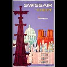 Swiss Travel, Exhibition Poster, Sign Printing, Coincidences, Winter Sports, Holiday Destinations, Bold Colors, Vintage Posters, Things To Come