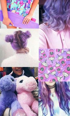Unicorn purple pink aesthetic