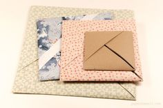 Origami Paper Storage Pocket Instructions