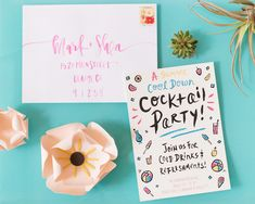 Summer Frozen Cocktail Party Inspiration by Oh So Beautiful Paper / Photo by Sweet Root Village / Invitations by The Paper Cub / Calligraphy by A Fabulous Fete Cocktail Party Invitation, Party Invitations Kids, Graduation Invitations, Wedding Invitations, Cocktails For Parties, Frozen Cocktails, Aniversary, Party On Garth, Festa Party