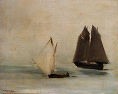 Edouard Manet Seascape painting for sale - Edouard Manet Seascape is handmade art reproduction; You can buy Edouard Manet Seascape painting on canvas or frame. Edouard Manet, Canvas Poster, Canvas Art, Art Sculpture, Oil Painting Reproductions, Seascape Paintings, Oeuvre D'art, Oeuvres, Art Images