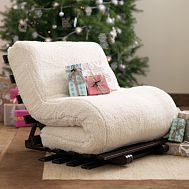This is so cool! Its a soft chair that folds out to be a mattress for sleepovers!!