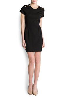 MANGO - Vestidos - Vestido botones decorativos