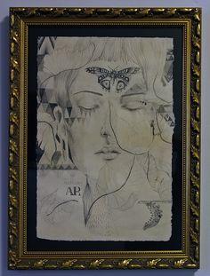 AR - Numa feição humana há algo de feição divina 51 x 34 cm - Lápis sobre papel 2014