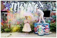 Photographic Blonde Trash The Dress Fashionista Bride Holi Festival