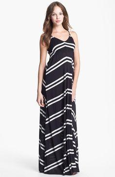 811045f76c3ec Eight Sixty Stripe Jersey Maxi Dress