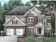 Floor Plan AFLFPW07705 is a beautiful 2361 square foot  Colonial  home design with 2 Garage Bays