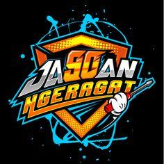 Jagoan ngeragat in T-Shirt Design by Kadalz Designz Lettering Design, Logo Design, Graphic Design, Letras Abcd, Design Kaos, Brand Stickers, Tshirt Photography, Game Character Design, Retro Logos