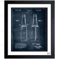Found it at Wayfair Supply - Design for a Beer Bottle 1934 Framed Graphic Art