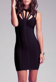 Latest cutout little-black-dress mini sexy bodycon-dresses  online via @roposolove