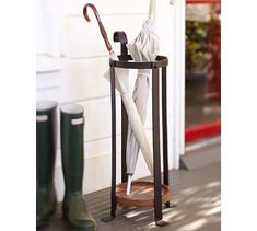 Blacksmith Umbrella Stand #potterybarn--planning ahead for not letting the rain stop me from walking this winter!