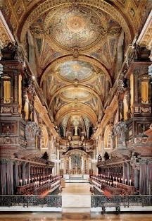 The Quire in St Paul's Cathedral, London The Quire is where the choir and clergy sit and was the first part of St Paul's to be built and consecrated