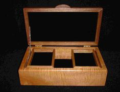 Jewelry Case Earrings or Pendant Box No Logo Gift for Him Wood Jewelry Box New Unused Wedding Box Unused Stained Hardwood Cuff Links