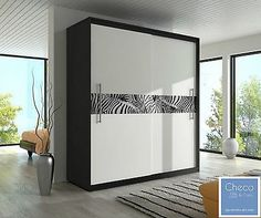 Brand new bedroom sliding door &… Black Bedroom Design, Luxury Bedroom Design, Bedroom Furniture Design, Modern Bedroom, White Sliding Door Wardrobe, Modern Sliding Doors, White Wardrobe, Wardrobe Laminate Design, Wardrobe Design