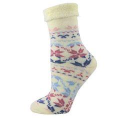 fa7585b27bd Double Layer Fuzzy Snowflake Socks
